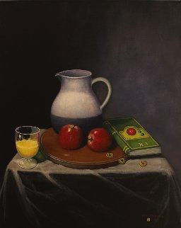 Orange Juice And I-Ching 30x24 Original Painting - Ken Tobias