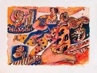 l'amour Sur Fond De Chant Biblique 1997 Limited Edition Print by Theo Tobiasse - 1