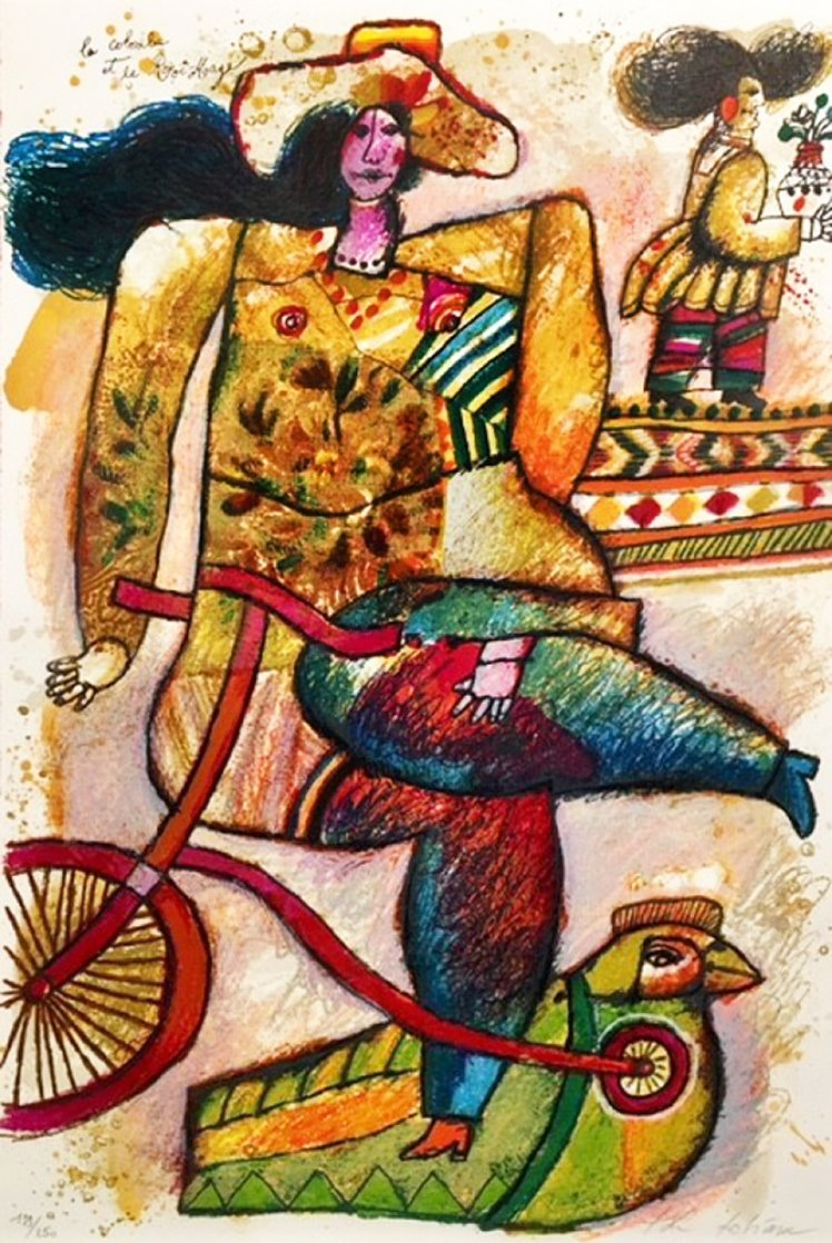 La Colombe Et Le Roi-Mage Limited Edition Print by Theo Tobiasse
