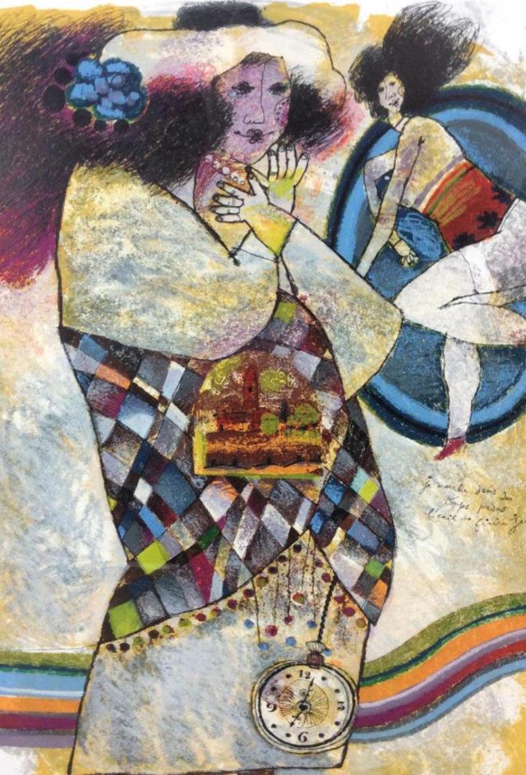 Je Marche Dans Des Temps Perdu 1988 Limited Edition Print by Theo Tobiasse