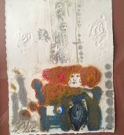 Dame Aux Deux Bougies 1982 Embellished  Limited Edition Print by Theo Tobiasse - 1