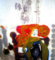 Dame Aux Deux Bougies 1982 Embellished  Limited Edition Print by Theo Tobiasse - 0