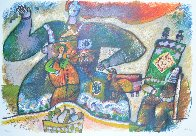 Cantique Por Faire Flewir Le Passe 1991 Limited Edition Print by Theo Tobiasse - 1