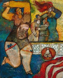Danse Melee a La Couleur De l'exil Original Painting - Theo Tobiasse