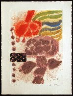 Les Fleurs Geantes 1981 Limited Edition Print by Theo Tobiasse - 1