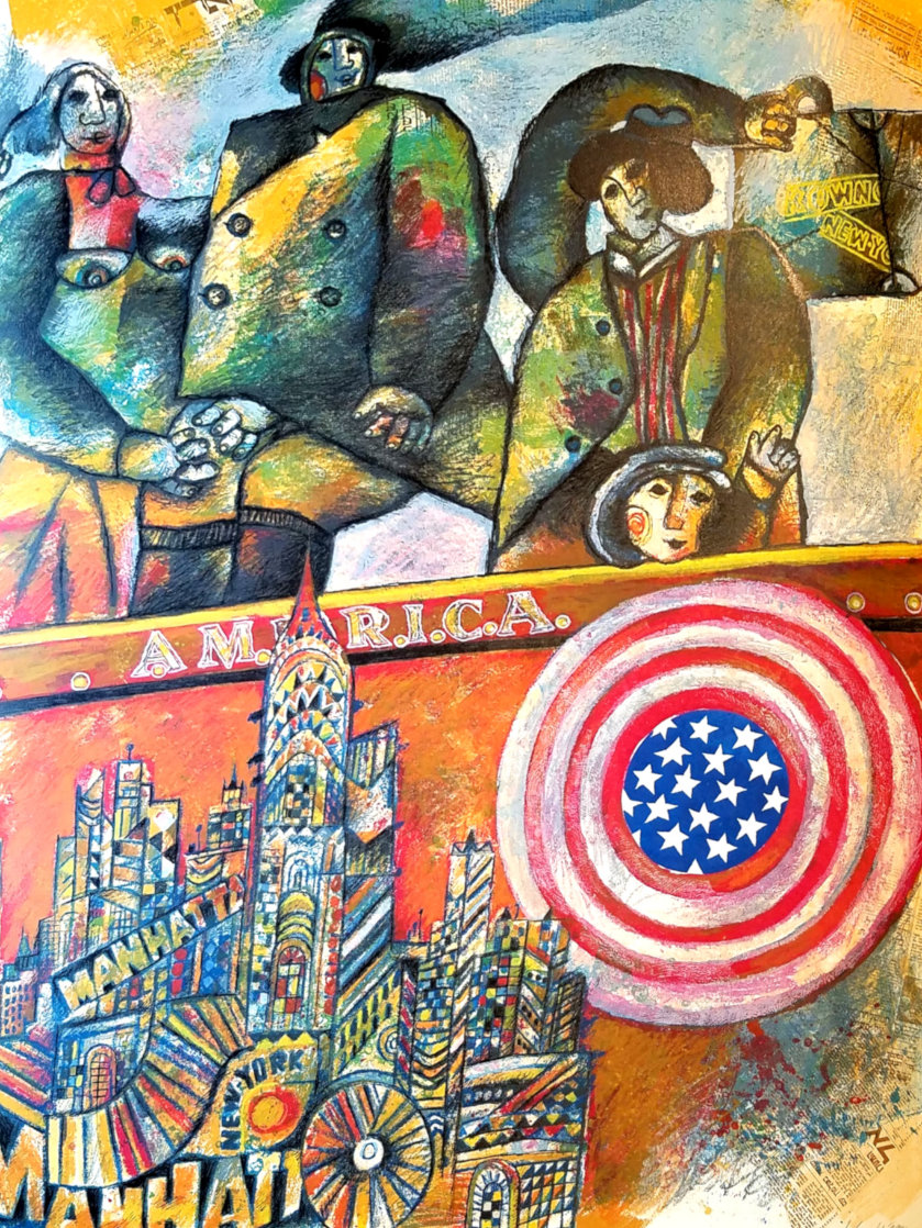 America 1986 Limited Edition Print by Theo Tobiasse