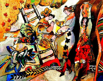 Le Desir Au Bord D'une Source 1998 Limited Edition Print by Theo Tobiasse