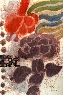 Les Fleurs Geantes 1981 Limited Edition Print - Theo Tobiasse