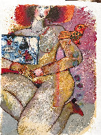 Parfum Dodalisque-2 1970 Limited Edition Print by Theo Tobiasse - 2