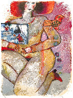 Parfum Dodalisque-2 1970 Limited Edition Print by Theo Tobiasse - 3