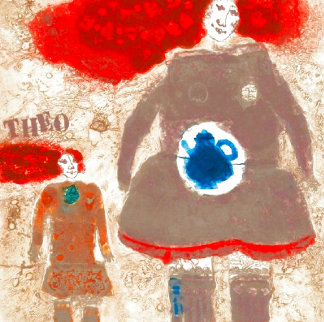 Mother and Child Limited Edition Print - Theo Tobiasse