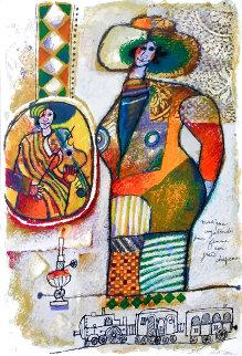 Musique Vagagonde Pour Femme Avec Grand Chapeau Limited Edition Print - Theo Tobiasse