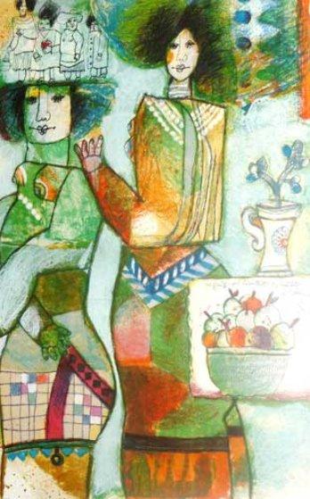 Les Fruits Qui Inventent Les Reflets De L'amour 1988 Limited Edition Print by Theo Tobiasse