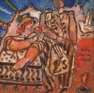 Opera Pour Une Enfant 2000 12x12 Original Painting - Theo Tobiasse