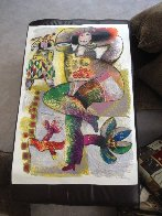 Danse Pantomime Pour Fruits De Velours Rouge 1982 Embellished Limited Edition Print by Theo Tobiasse - 1