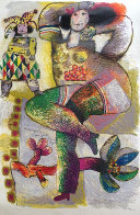Danse Pantomime Pour Fruits De Velours Rouge 1982 Embellished Limited Edition Print by Theo Tobiasse - 0