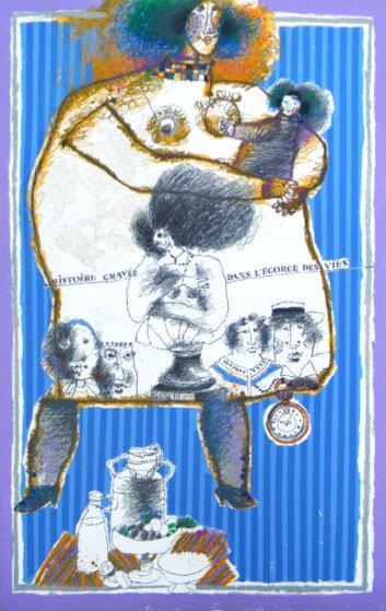 Histoire Graves Dans l'Ecorce Des Views AP Limited Edition Print by Theo Tobiasse