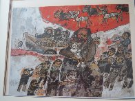 Composition With People Limited Edition Print by Theo Tobiasse - 1