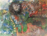 Bearded Man With Flower Limited Edition Print by Theo Tobiasse - 0
