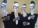 Guys And Cards Watercolor 2002 25x26 Watercolor - Todd White