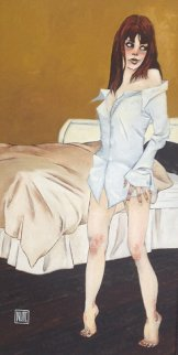 She Wears His Shirt 2012 50x31 Huge Original Painting - Todd White