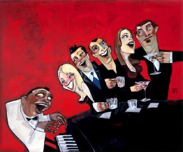 Piano Bar 2000 Limited Edition Print by Todd White