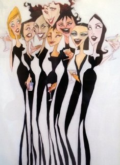 Girl Party 2005 Embellished Limited Edition Print by Todd White