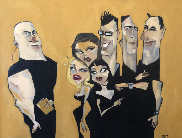 Hollywood Line Dance 2002 32x42 Original Painting by Todd White