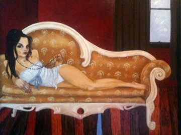 Feet Off the Couch 2007 Embellished, Remarque Limited Edition Print - Todd White