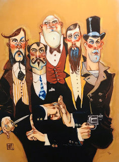 Band of Thugs Embellished Super Huge Limited Edition Print - Todd White
