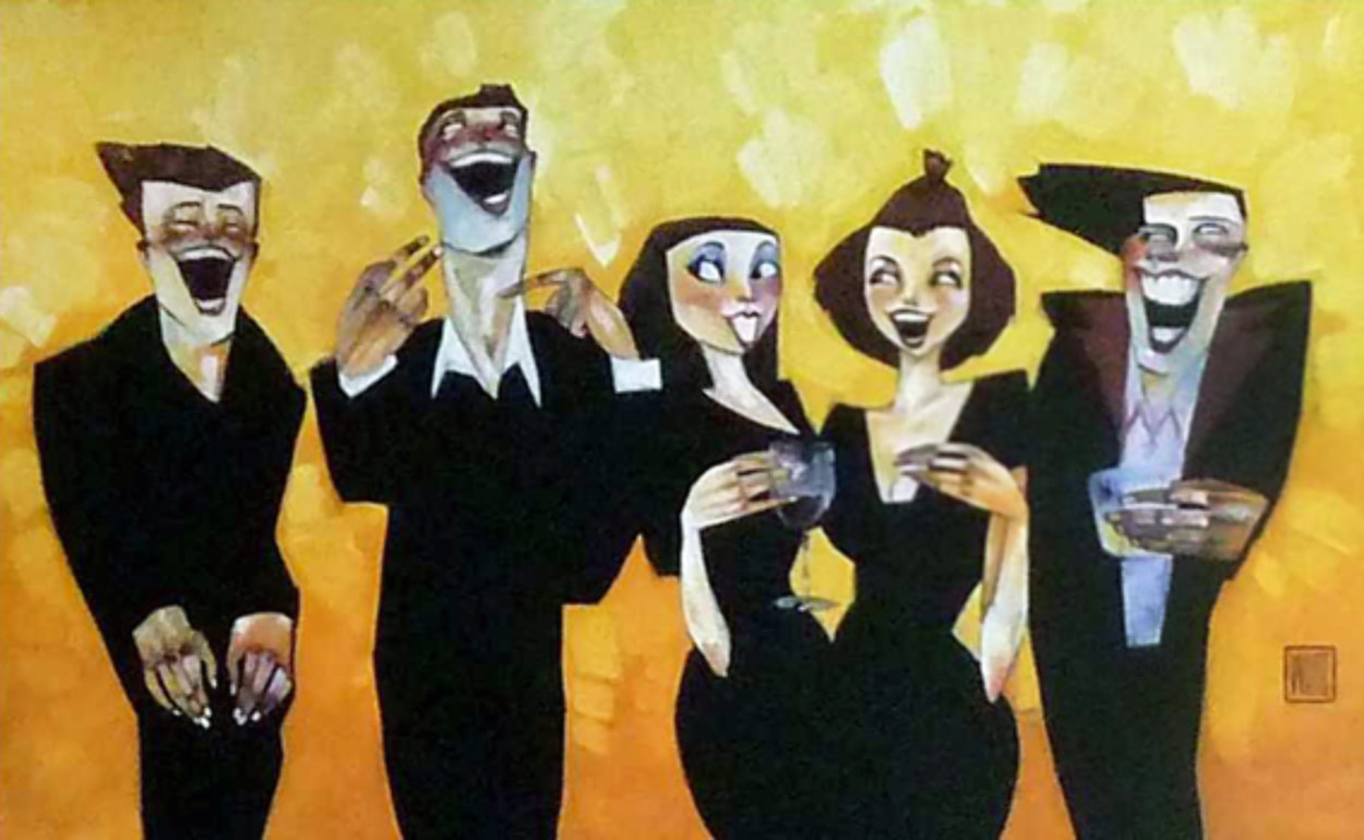 Get a Sense of Humor Embellished Limited Edition Print by Todd White