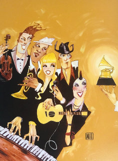 Grammy's 2007 Embellished Super Huge  Limited Edition Print - Todd White