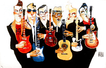 Six String Embellished Limited Edition Print - Todd White