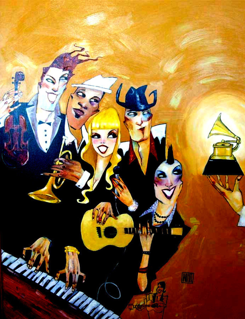 Grammy 2007 Black Eyed Peas with Remarque Limited Edition Print by Todd White