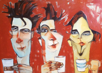 Morning Do's 2002 30x40 Original Painting - Todd White