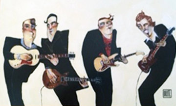 Jam Session 32x44 Original Painting by Todd White