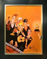 Grammy 2007 Embellished with Remarque Limited Edition Print by Todd White - 1