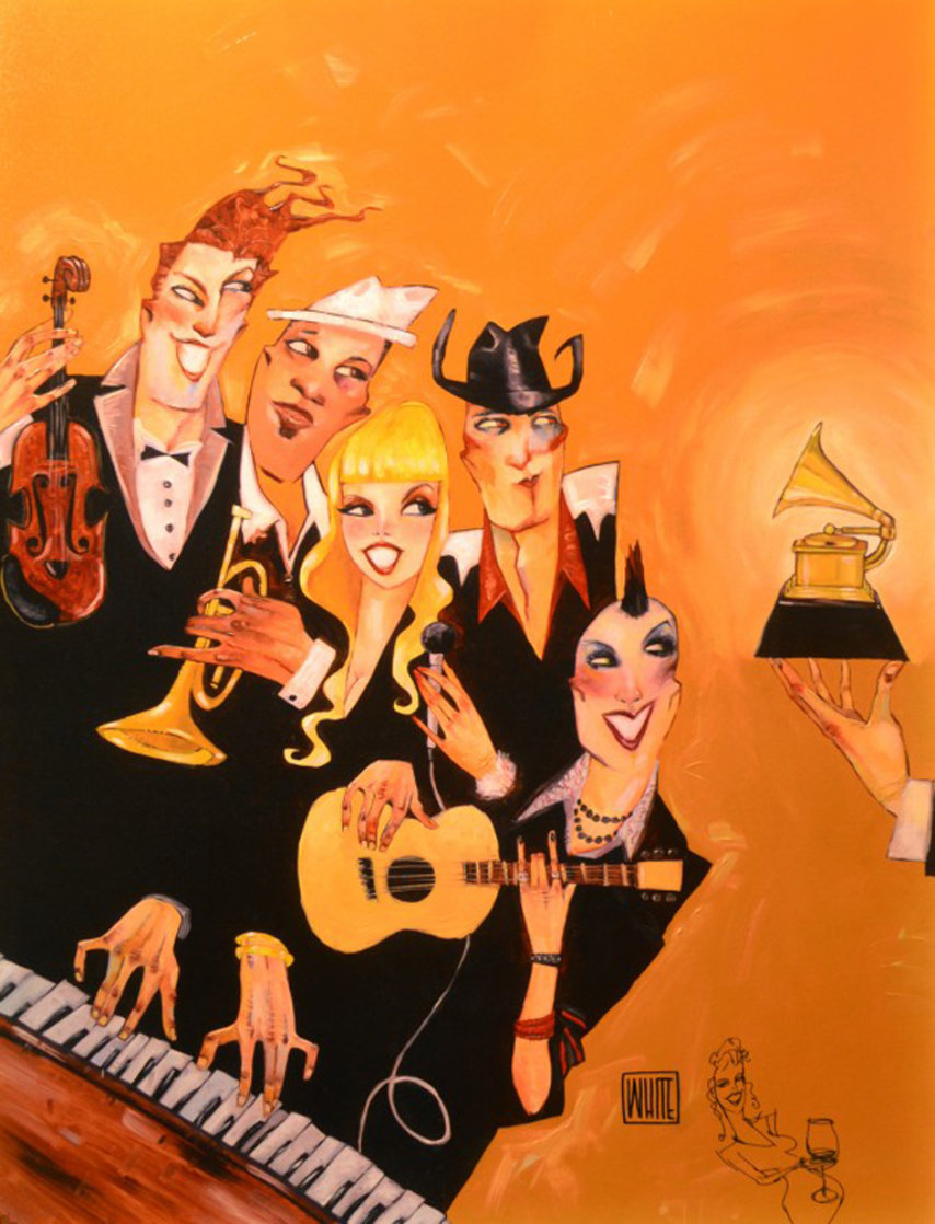 Grammy 2007 Embellished with Remarque Limited Edition Print by Todd White