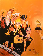 Grammy 2007 Embellished with Remarque Limited Edition Print by Todd White - 0