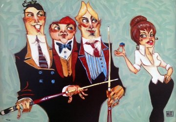 Someone's About to Get Hustled 2011  Embellished Limited Edition Print by Todd White
