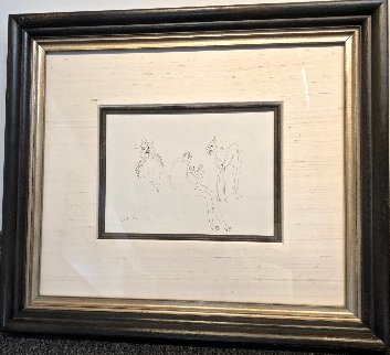 Two Sided Horse Drawing 1974 21x31 Drawing by Francisco Toledo