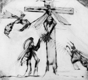 Avispa Crucificada 1999 Limited Edition Print by Francisco Toledo