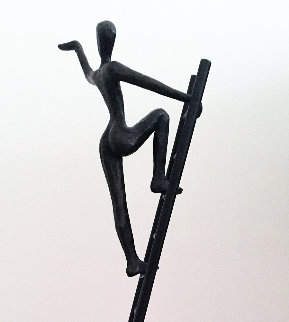 Ladder of Success Bronze Sculpture 1996 28 in Sculpture - Tolla Inbar