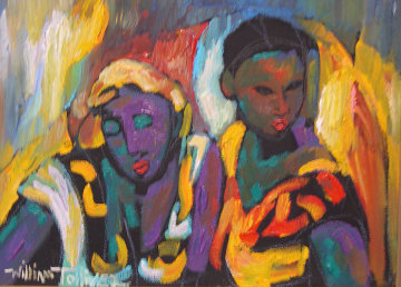 Cousins 1988 11x15 Original Painting by William Tolliver