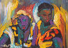Cousins 1988 11x15 Original Painting by William Tolliver - 0