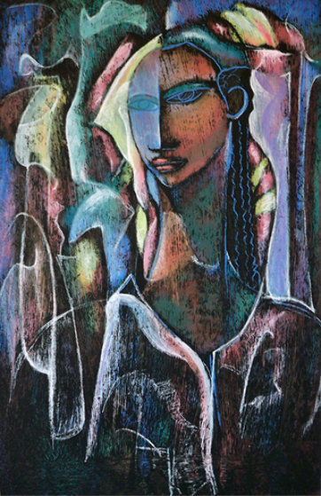 Woman Deep in Thought 1988 Limited Edition Print by William Tolliver