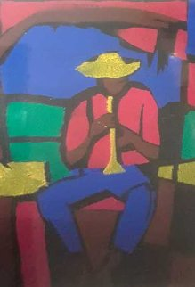 Lonesome Boy 1991 24x20 Works on Paper (not prints) - William Tolliver
