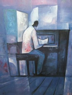 Piano Player 1991 Limited Edition Print by William Tolliver