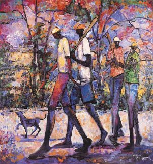 Looking For a Game AP 1991 Limited Edition Print by William Tolliver