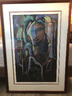 Woman Deep in Thought 1989 Limited Edition Print by William Tolliver